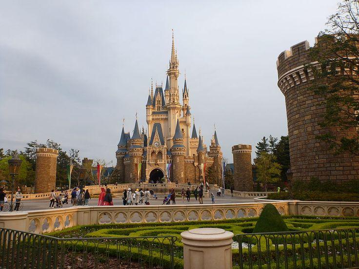 """* Castelo da Cinderela *  """"Tokyo Disneyland"""".  Tóquio, Japão."""