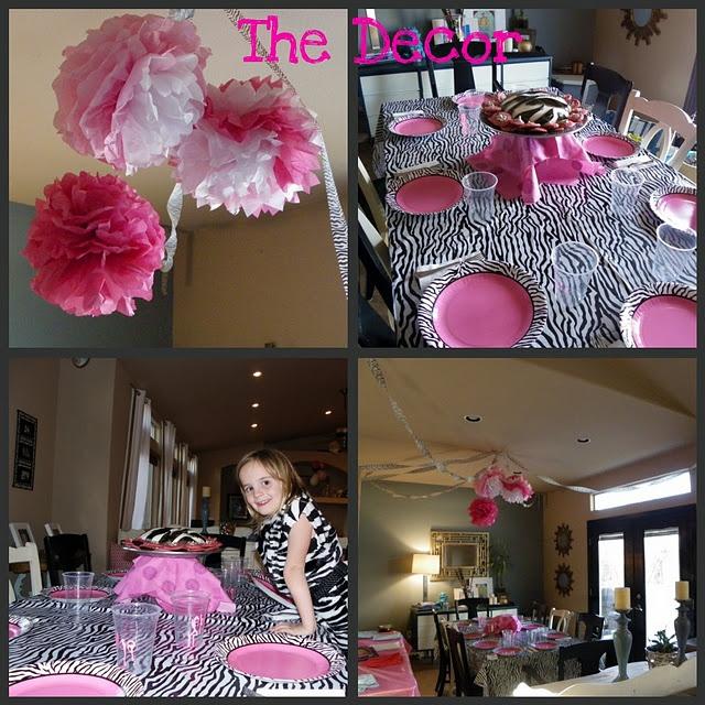 Duel Birthday Decor Zebra Barbie And Princess Themes: Zebra Party Decorations