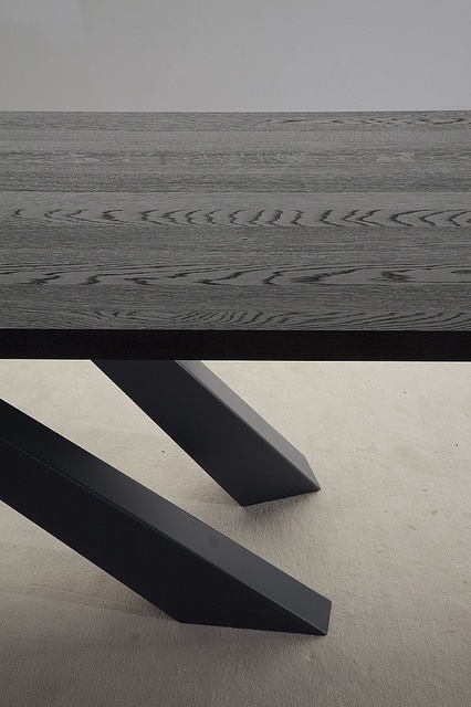 Grey Lacquered Solid Wood Top of Bonaldo BIG Table