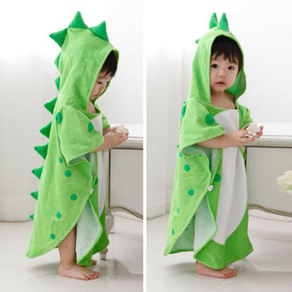 Us 11 96 19 Off Baby Towel Hooded Boy Girl Clothes Cartoon Dinosaur Ponchos Children Clothes Bath Towel Kid Be In 2021 Kids Outfits Girl Outfits Kids Beach Towels