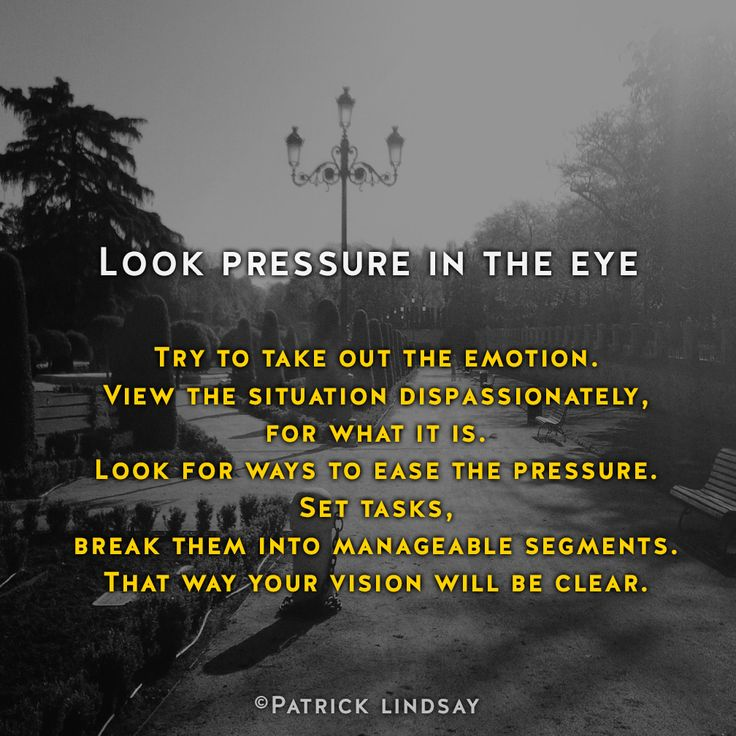 Look pressure in the eye #inspiration #highhopes #makethemostofyou  High Hopes: http://goo.gl/OMpfvh