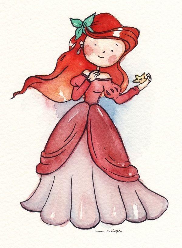 As Princesas Disney por Malipi