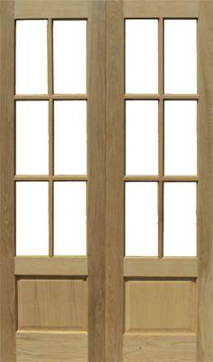 OAK INTERNAL GLAZED FRENCH DOORS HARROW 78X46