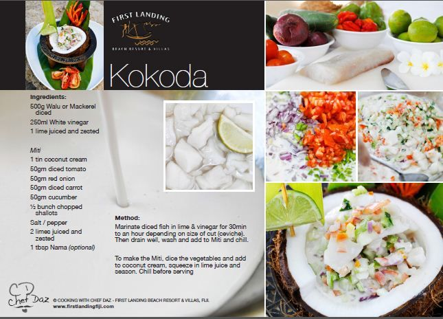 Recipe card for Kokoda