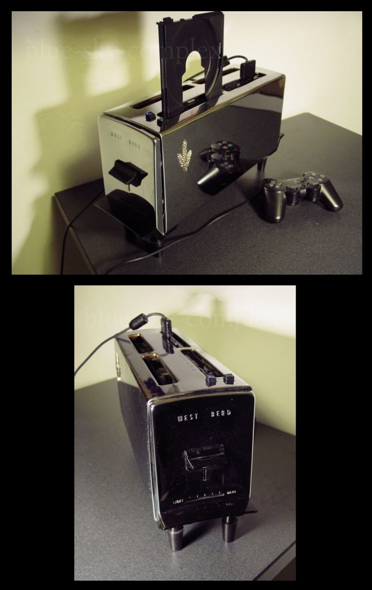 Fully functional Playstation toaster (to play video games; unfortunately, it cannot make toast anymore :/)