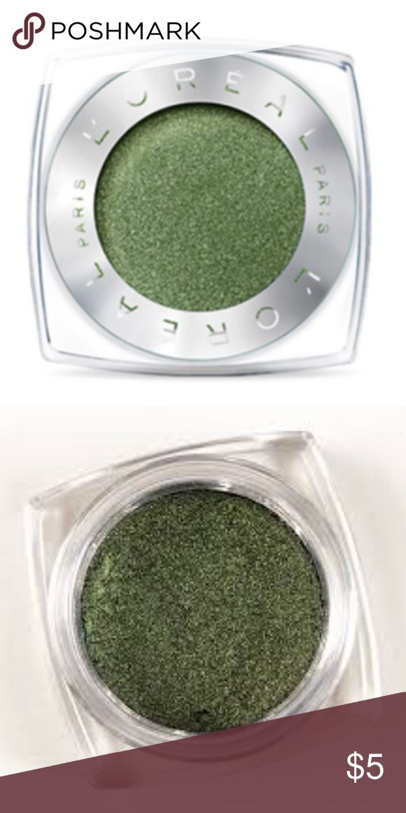 Brand New L'Oréal Paris Infallible 24HR Eyeshadow Brand New L'Oréal Paris Infallible 24HR Single Eyeshadow (currently retailing for $8) in the shade '335 - Golden Emerald' ... only ever swatched!  -Intense, maximized color -Luxurious powder-cream texture -24-hour long-lasting hold -Waterproof, crease resistant, fade resistant L'Oreal Makeup Eyeshadow