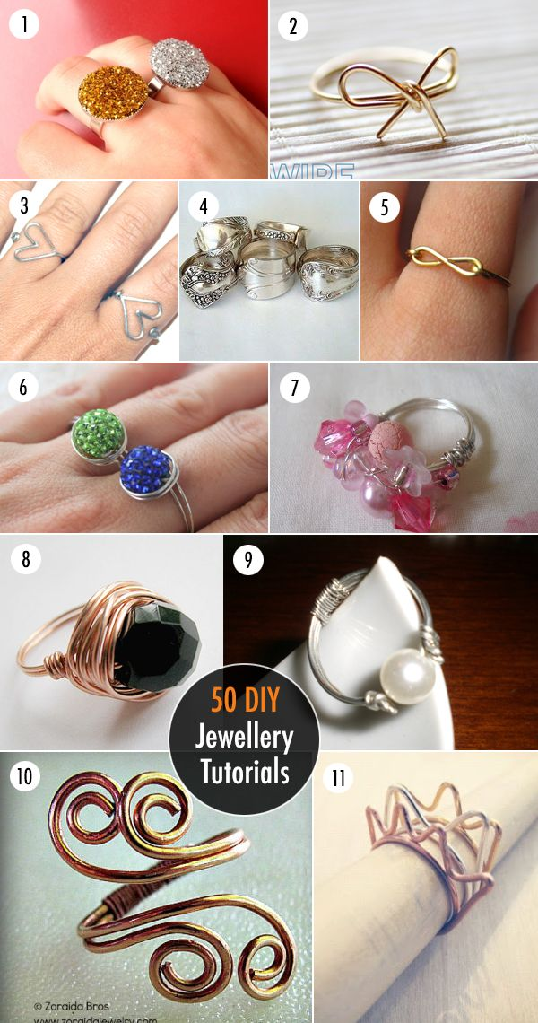 50 DIY Jewellery Tutorials Rings i