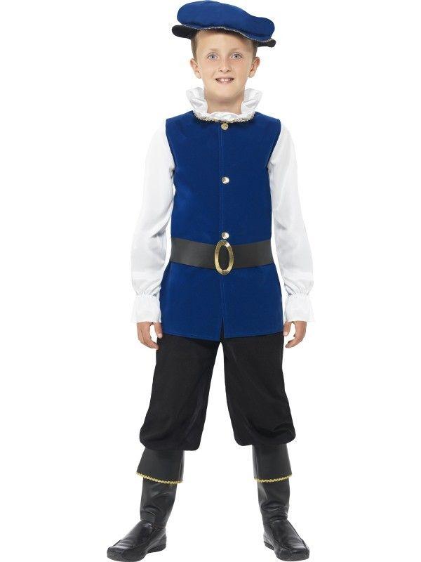 Victoriaanse Tudor Jongen Kostuum ==> Feestkleding 365!