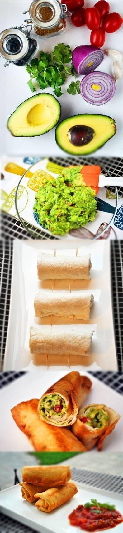 guacamole taco rolls