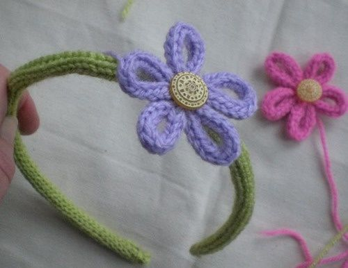 French knitting inspiration and a way to renovate old headbands