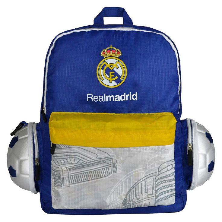 La Liga Real Madrid CF Collapsible Soccer Ball Backpack