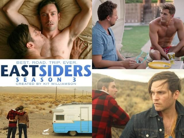 The Great American Road Trip Is About To Get a Whole Lot Gayer  / Kit Williamson's two-time Emmy-nominated LGBT series, EASTSIDERS, returns for a six-episode third season this month.  Executive produced by Williamson and his husband John Halbach, and made possible via a Kickstarter campaign that raised...