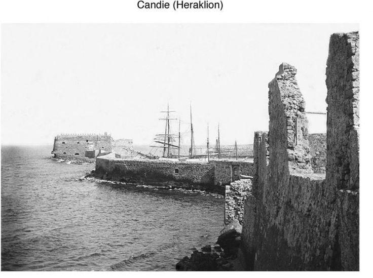 Ηράκλειο. Ο Κούλες όπως φαινόταν από τη δυτική πλευρά στα 1900 περίπου. Φωτογραφικό Αρχείο του συνταγματάρχη Émile Honoré Destelle. Δημοσίευση Ελένης Σημαντήρη.