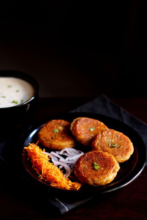 aloo tikki recipe - popular north indian snack of spiced, crisp potato patties. step by step recipe.