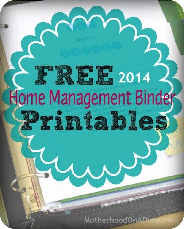 Free Home Management Binder + Printables For 2014