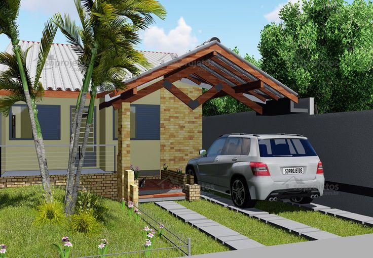 As 25 melhores ideias de projetos de casas terreas no for Casa moderna 8x20