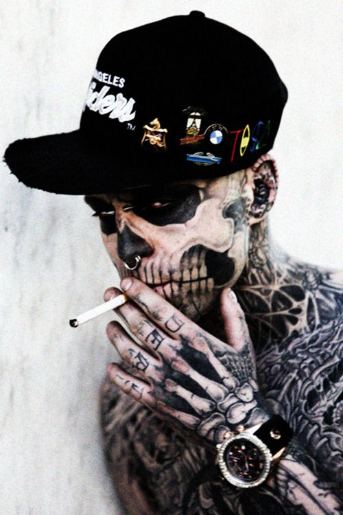 #RickGenest #ZombieBoy #MattPlunkett #people #model #style #tisa #swag #smoke #smoking #tattoo #watch