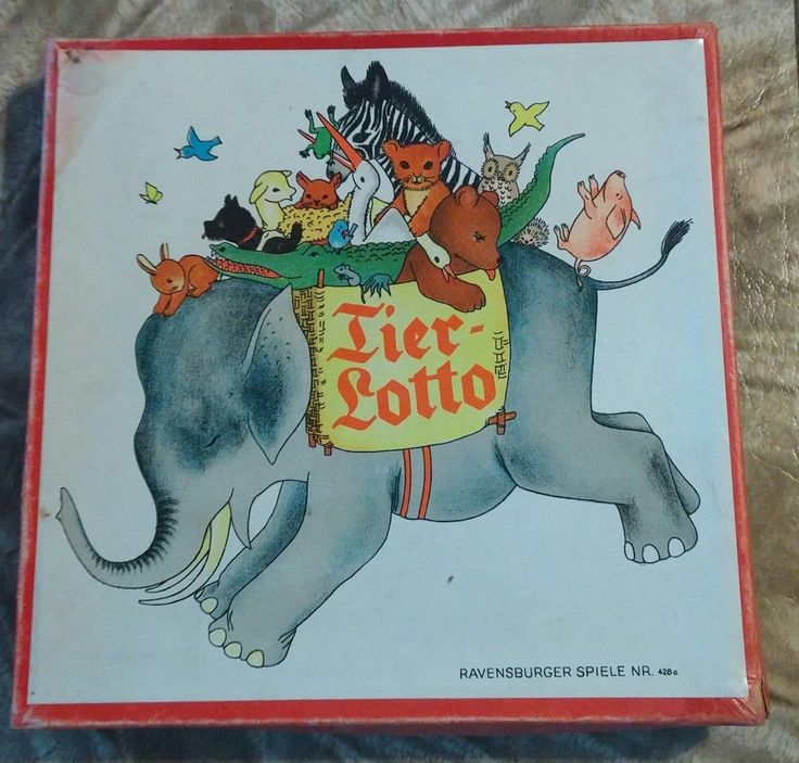 Rare vintage 1920 Ravensburger Spiele NR 428 Animal Tier Lotto Game by ZappoAire on Etsy