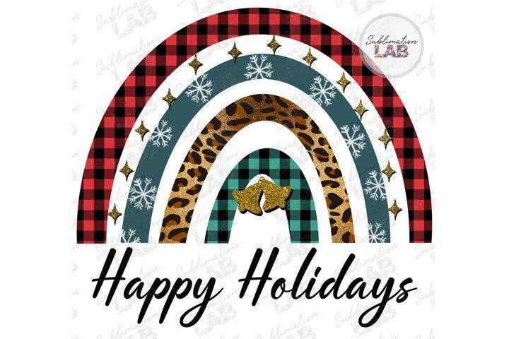 Christmas Happy Holidays Rainbow Png Sublimation Design 1013857 Sublimation Design Bundles Design Bundles Sublime Rainbow