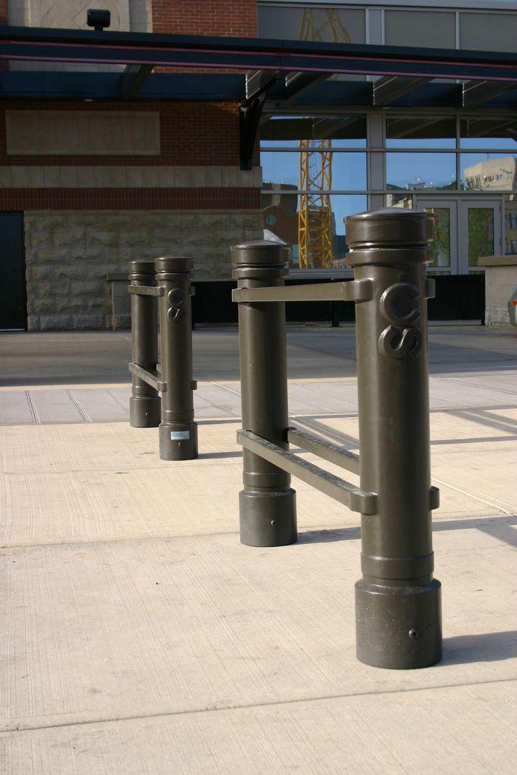 Maglin's custom bollards can be seen at the Calgary Stampede in Calgary Alberta.
