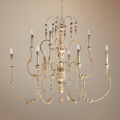 """Quorum Salento 9-Light 40 1/2"""" Wide White Chandelier from Lamps Plus"""