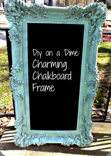 Frugal DIY: Charming Chalkboard Frame - Southern Cali Saver