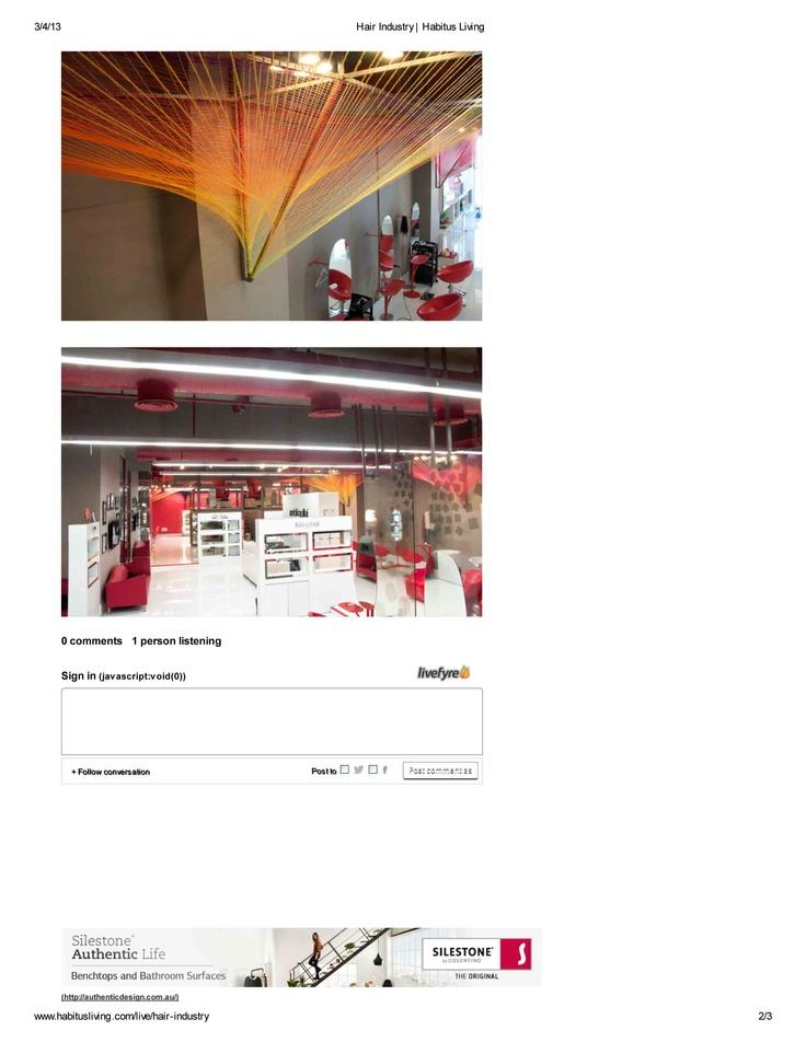 RLDA's project of a salon gets featured in Habitusliving (Australia).