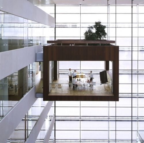 Could you work here? Meeting room at Nykredit bank in Copenhagen by Schmidt Hammer Lassen Architects.