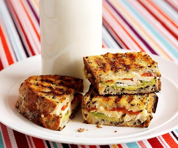 Chicken, avocado and camembert jaffle recipe   Food To Love