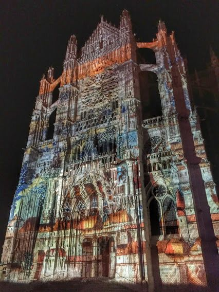 Beauvais, France. Light and sound show at the Saint Peter Cathedral on this days... by Pol Bacquet on Google+