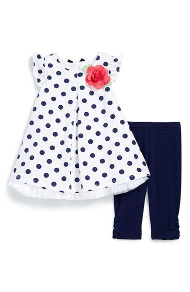 Little Me Polka Dot Tunic & Capri Leggings (Baby Girls) available at #Nordstrom