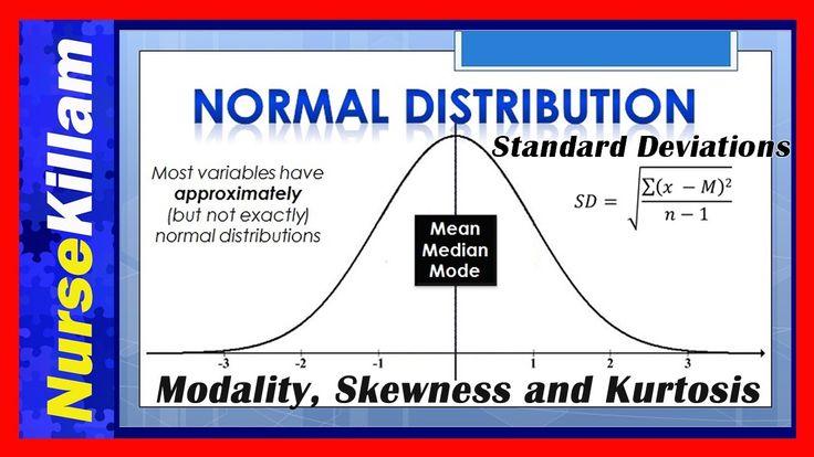 Normal Distributions, Standard Deviations, Modality, Skewness and Kurtos...