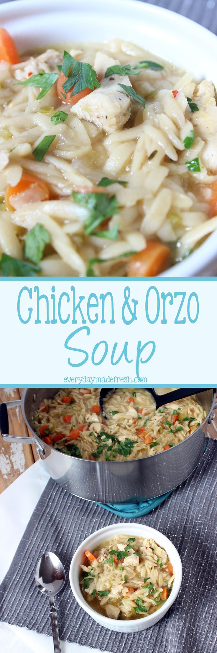 Take the noodles out of the soup, because this Chicken and Orzo Soup is the best thing that ever happened! | EverydayMadeFresh.com http://www.everydaymadefresh.com/chicken-orzo-soup/