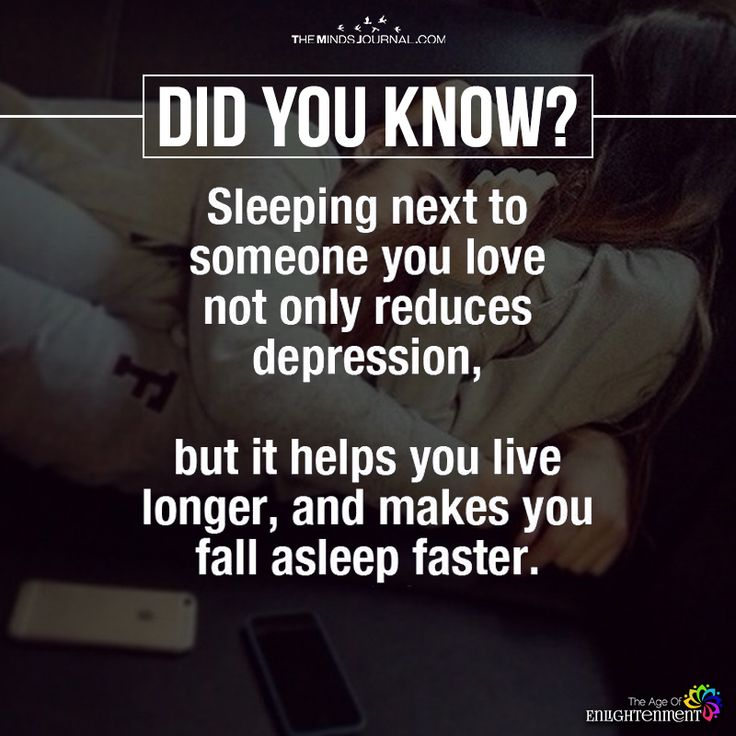 Sleeping Next To Someone You love Not Only Reduces Depression - https://themindsjournal.com/sleeping-next-someone-love-not-reduces-depression/