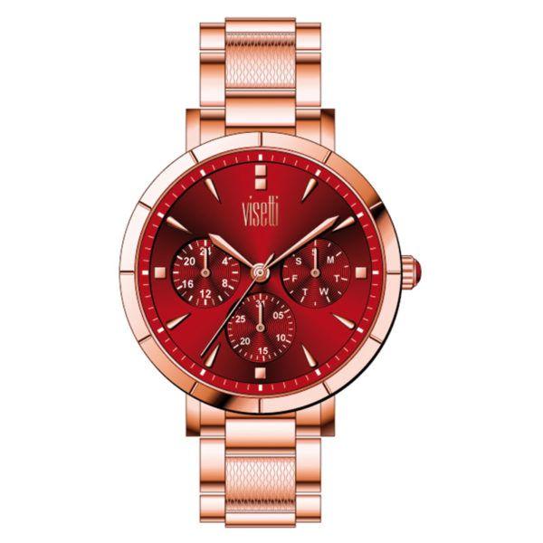 Ρολόι Visetti  Caprice  Multifunction  rose  Steel Bracelet PE-972RDR