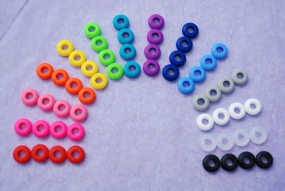 15 Colored Grommets Rubber Grommets for by BondurantMountainArt