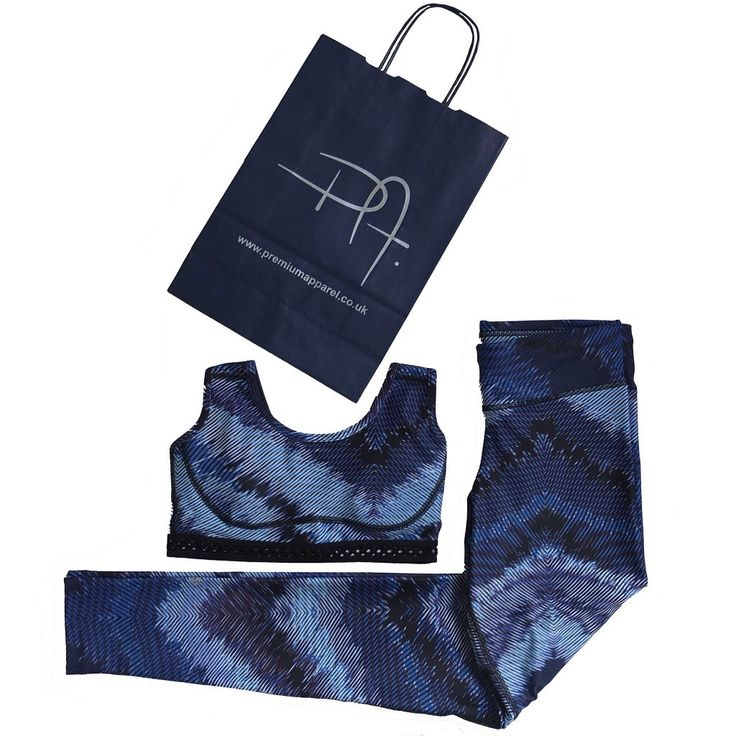 With summer in full swing, our matching Blue Lines set is a must-have for your activewear collection!