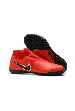 Günstig Fußballschuhe Nike Phantom Vision Academy DF TF - Rot Schwarz Silber a9539d1fbb730