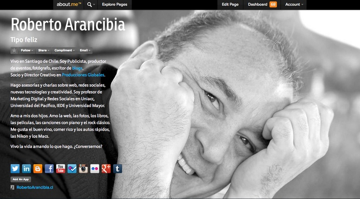 About me:  http://about.me/robertoarancibia