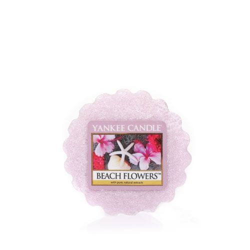 Beach Flowers™ Tarts® wax melts Up to 8 Hours of Fragrance   About This Fragrance Like delicate keepsakes from the sea. . . the lovely scent of tuberose, lily and hyacinth blossoms balanced with soft watery notes.