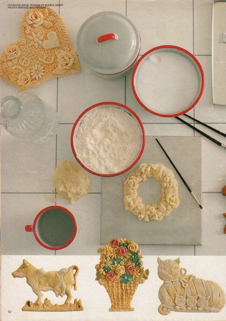 La recette de la pâte à sel Dans le n°122 (décembre 1983), un dossier* contenant la recette de la pâte à sel et de jolis modèles réalisation Marion Faver Centidéalement Garigo