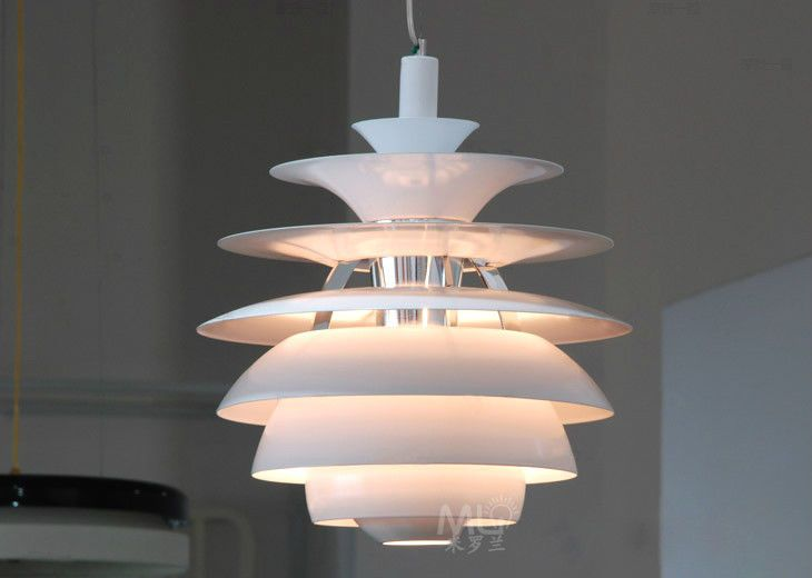 Modern white retro designer artichoke style ceiling pendant light fitting lamp in home furniture diy lighting ceiling lights chandeliers