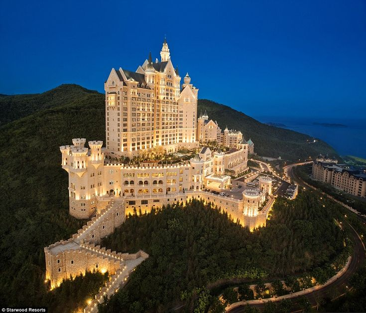 Disney dreams come true: The Castle Hotel has opened in Dalian in the Liaoning Peninsula, China. Wow!