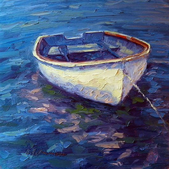 "Watercolor ""A New Boat"" Plein Aire in Main"