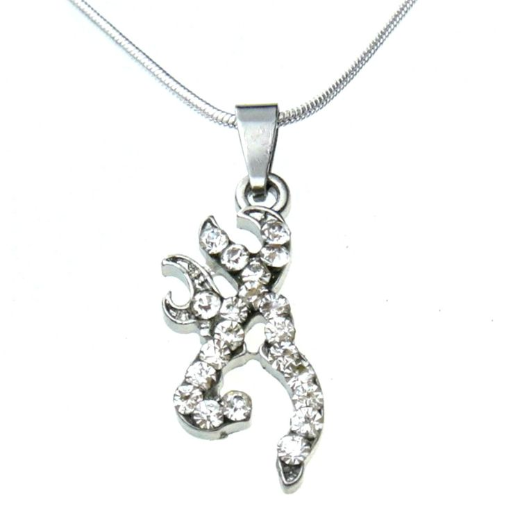 Crystal Stones in a Browning Symbol Necklace