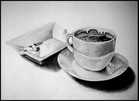 Coffee and Cigarettes by Antonina Georgieva    via http://www.artflakes.com/en/shop/antonina-georgieva