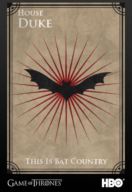 "Raoul Duke from Fear and Loathing in Las Vegas | Community Post: 26 ""Game Of Thrones"" Sigils For Famous Fictional Characters"