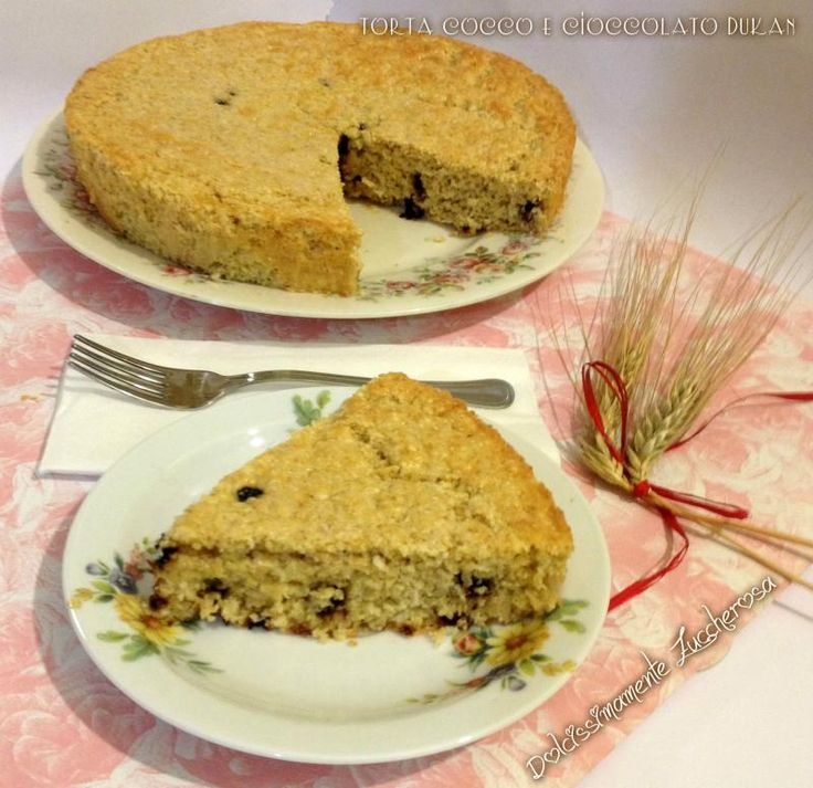 Torta cocco e cioccolato Dukan ricetta light | Dolcissimamente Zuccherosa