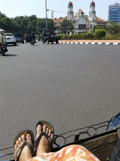 On Becak. Semarang. Indonesia