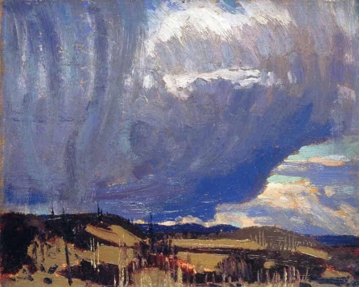 "artishardgr: "" Tom Thomson - Approaching Snow 1915 """